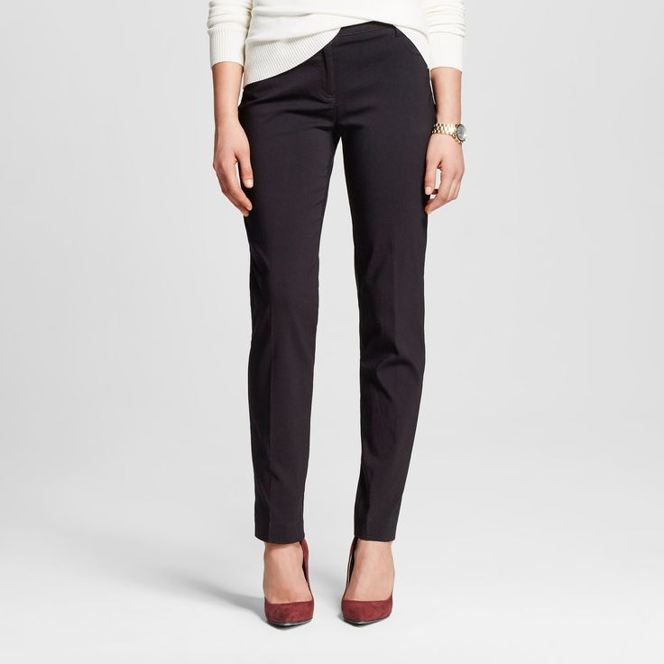 Women's Straight Trousers Black 10 - Zac & Rachel