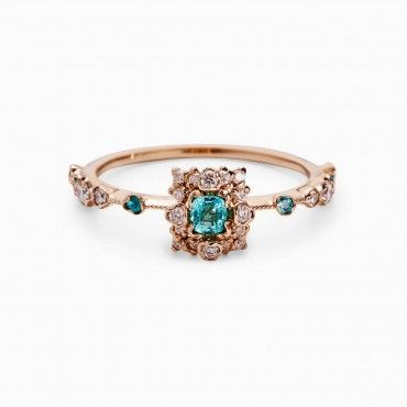 Kataoka Paraiba Flower Ring