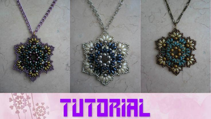 DIY - TUTORIAL Ciondolo Dioniso con superduo, perle e rocailles