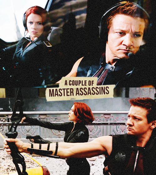 Black Widow Hawkeye. #clintasha