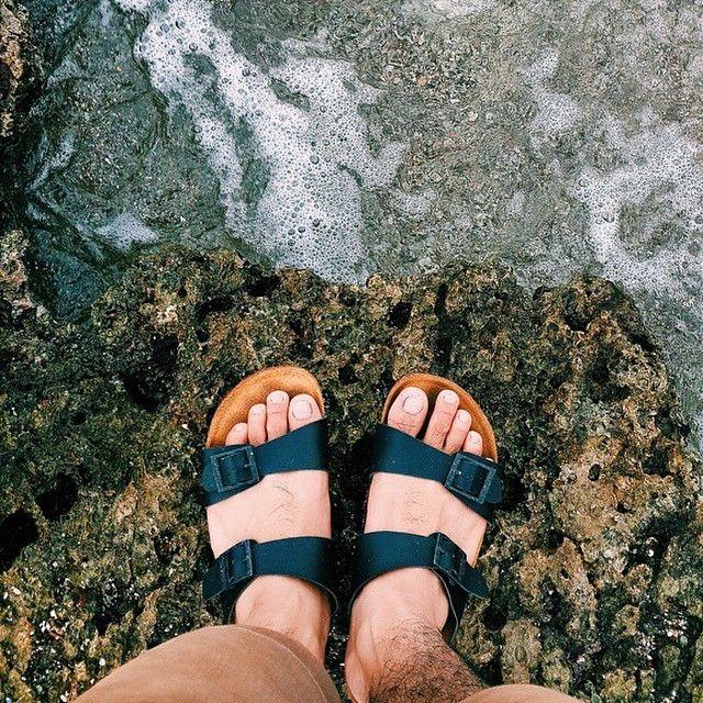 """O-hello Vitamin Sea  : @adiwcksno  #hijacksandals #fromwhereistand #leather #sandals #leathergoods #vsco #vscocam"""