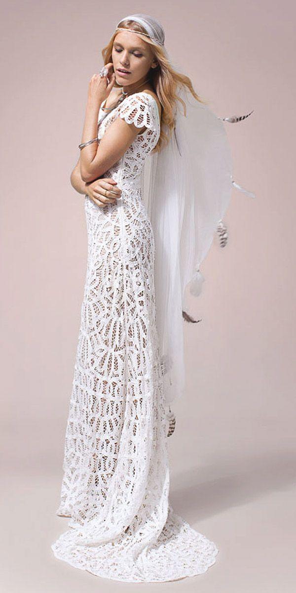 Boho Wedding Dresses From Fabulous Nomadic Love Collection ❤ See more: http://www.weddingforward.com/boho-wedding-dresses/ #weddings #dresses