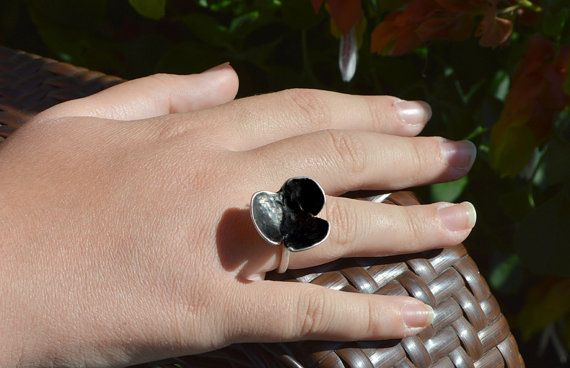 sterling silver 925 ringoxidised ringfor her for teens by atermono