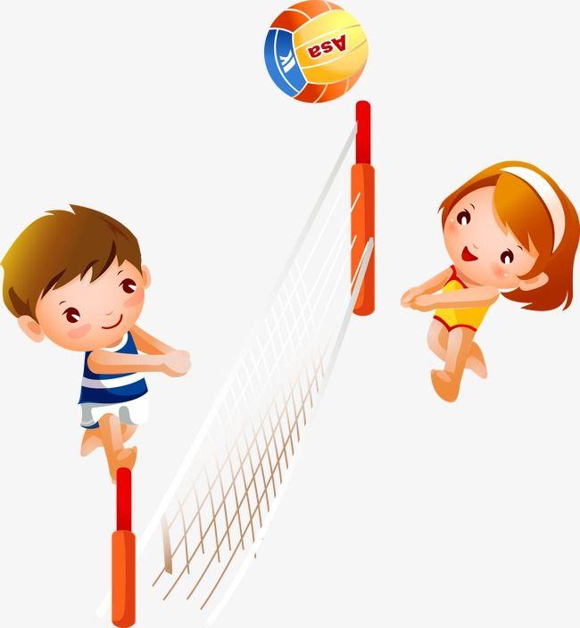 ناقلات طفل لعب الكرة الطائرة كرة الطائرة الكرة الطائرة صبي الكرتون Png وملف Psd للتحميل مجانا Kids Clipart Cartoon Boy Girl Cartoon