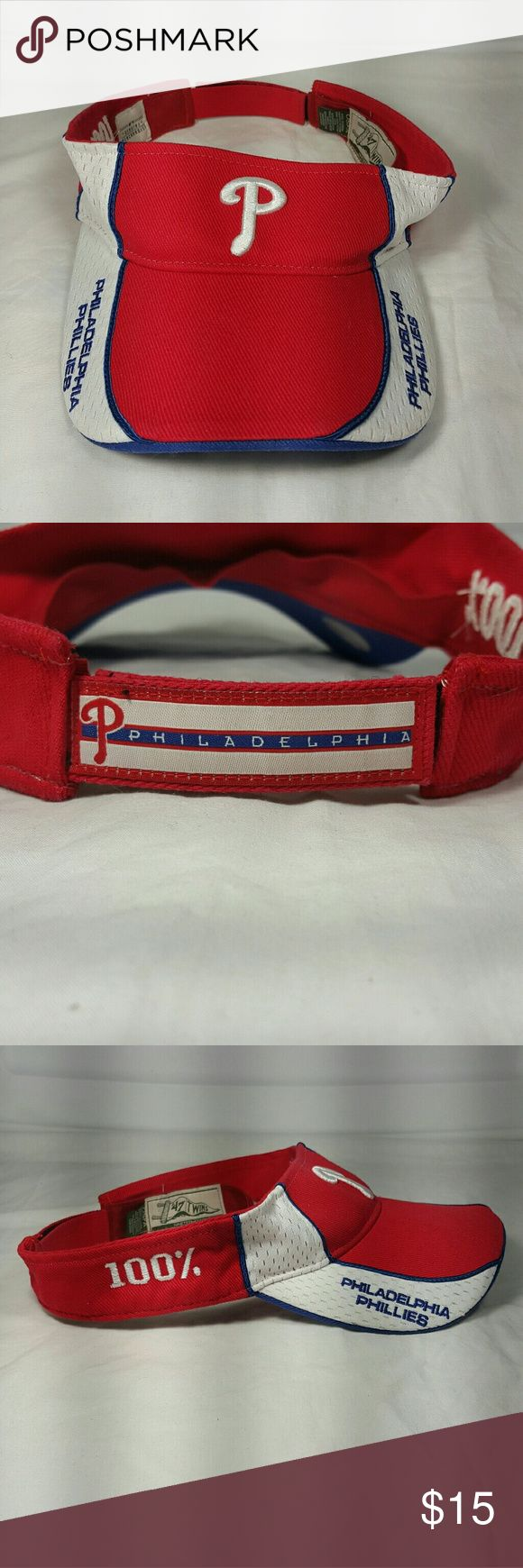 Forty Seven '47 Brand Philadelphia Phillies visor Phillies visor Adjustable back, one size fits all Accessories Hats