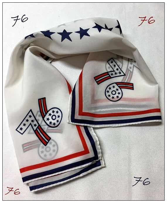 Check out 1976 CELEBRATION SCARF for 200 YEARS by Nasharr Freres - Red, White & Blue! *So Very Nice Condition* on thriftnstyle