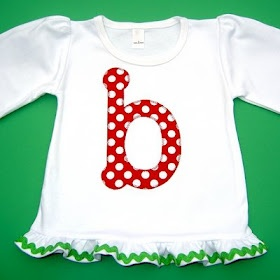 Polka Dot Christmas Handmade Holiday Gift Boutique: Cute Christmas Applique Tees