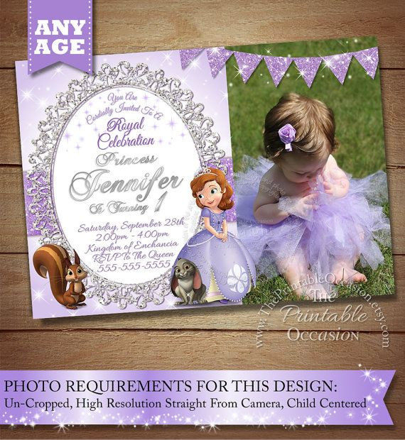 Hey, I found this really awesome Etsy listing at https://www.etsy.com/listing/230529733/sofia-the-first-invitation-princess