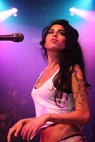 Amy Winehouse. Looks to match her amazing voice!
