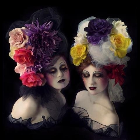 The Ugly Sisters head dresses for the ball