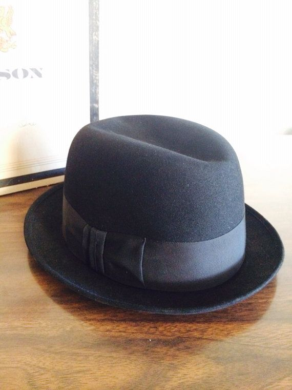 Stetson Hat Royal Stetson Fedora Black Hat by LitterandVintage, $112.00