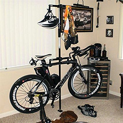 Amazon.com : Double Vertical Bicycle Storage Hanger Rack for Garages or Apartments : Indoor Bike Storage : Sports & Outdoors
