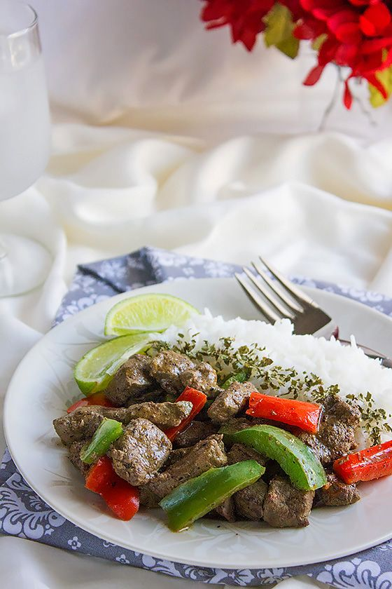Beef Liver Stir Fry, in this post I teach you how to cook a tender flavorful liver with few tips on cleaning it too. Recipe here: http://www.munatycooking.com/2017/01/beef-liver-stir-fry.html