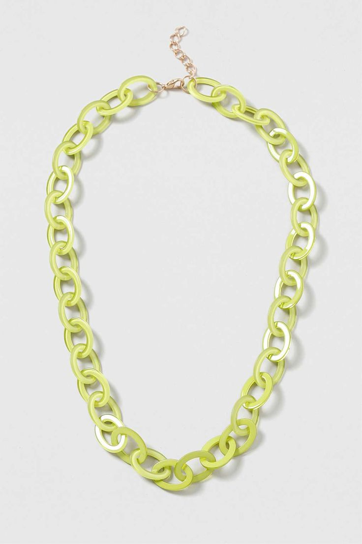 Perspex Oval Linked Necklace