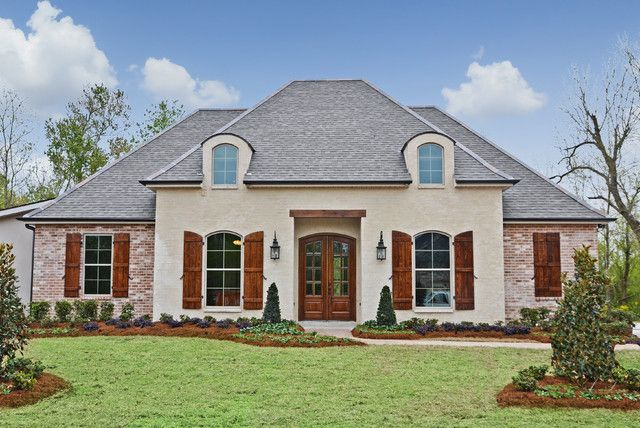 White Brick House Exterior With Shutters
