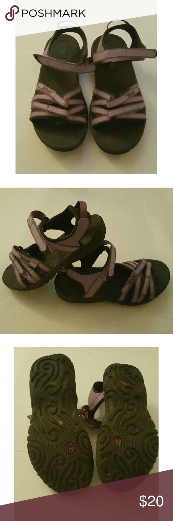 Teva kids sandals Like new. Purple with black sole. Worn once Teva Shoes Sandals & Flip Flops