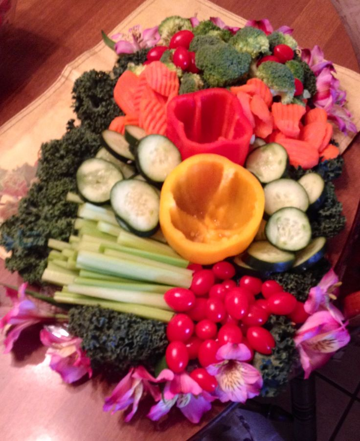 Veggie Tray I Made For A Baby Shower!