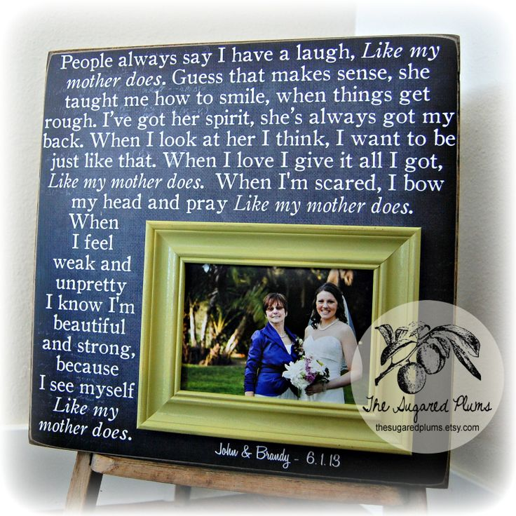 ... Of The Bride Gift Personalized Picture by thesugaredplums, USD75.00