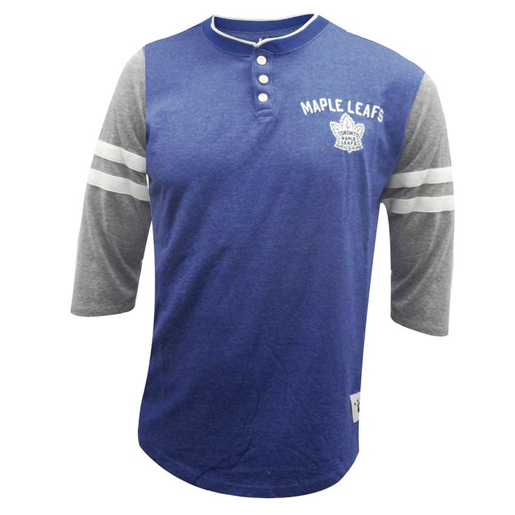 Toronto Maple Leafs Mitchell & Ness Men's Home Stretch Henley Long Sleeve