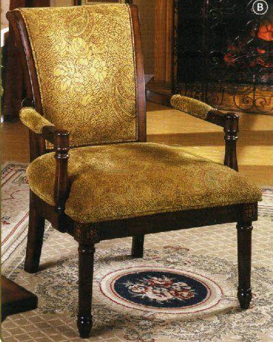 Best Amazon Com Leah Cottage Style Accent Chair Antique Oak 400 x 300
