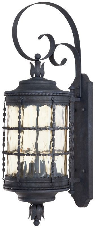 """The Great Outdoors GO 8882 4 Light 34.25"""" Height Outdoor Wall Sconce from the Ma Mediterranean Iron Outdoor Lighting Wall Sconces Outdoor Wall Sconces"""