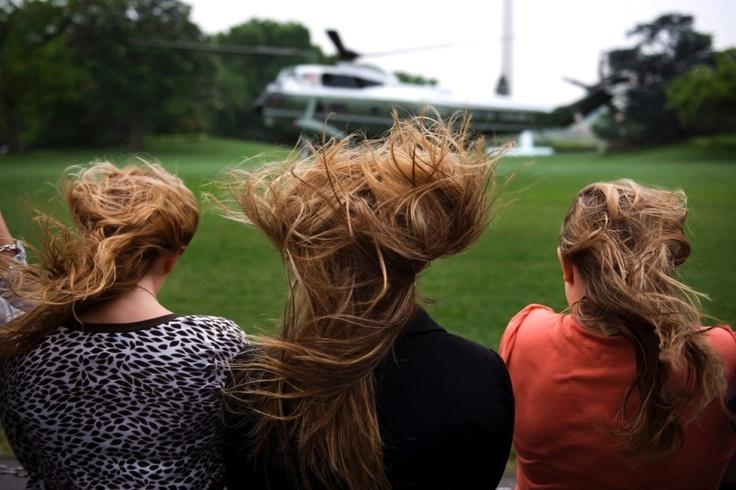Hair Raising Landing at the WH