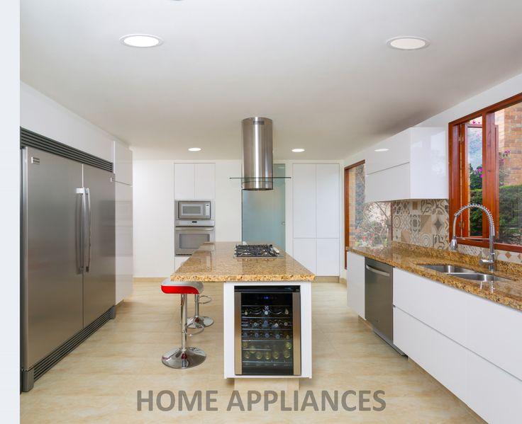 cocinas modernas #cocinas #kitchen #design  #Home #homeappliances #Electrodomesticos #Persianas #Art #Shopping #Hornos #campanas #Muebles