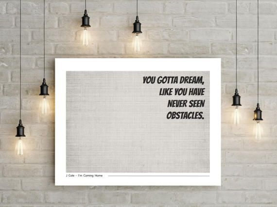 Poster J Cole J Cole Poster Print Quote Poster by MangoAndDesign