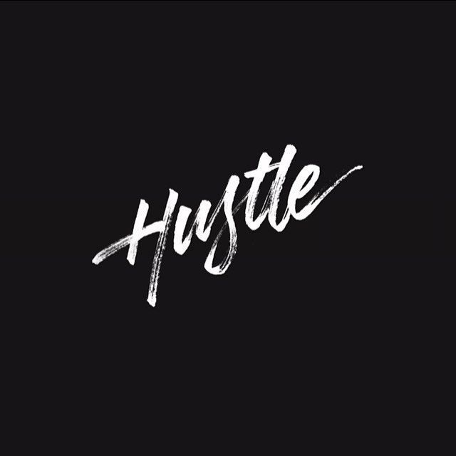 Hustle | Been on my grind every day working on my lettering skills. Big things coming soon stay tuned.  by ginozko