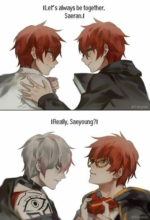 Saeyoung and Saeran || Mystic Messenger