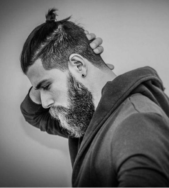 Pompadour Men Long Mens Ponytail Hairstyles 2014 Beards N Hair