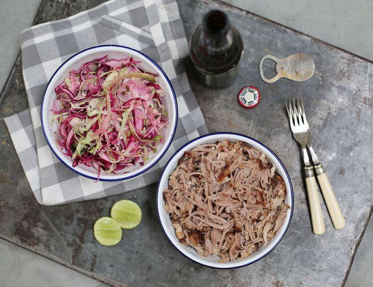 Pulled Pork with Crisp & Crunchy Slaw Recipe | Abel & Cole