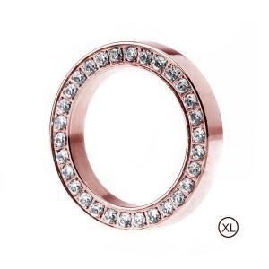 Edblad rose stainless steel stacking ring