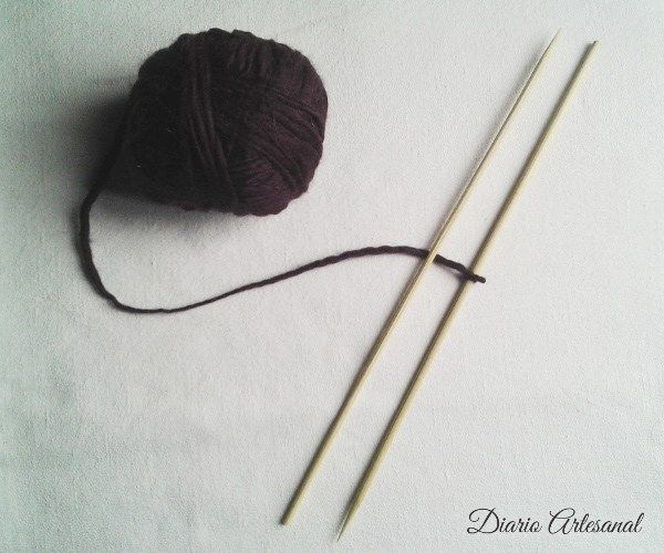 Mandalas de lana Ojo de dios, paso 1
