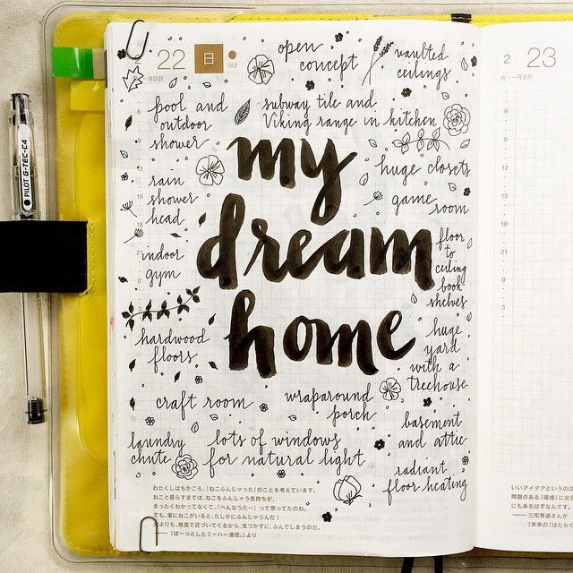"""674 Likes, 25 Comments - pepper and twine (@pepperandtwine) on Instagram: """"I love my home, but if I ever had the money to buy or design my dream home...  #hobonichi…"""""""