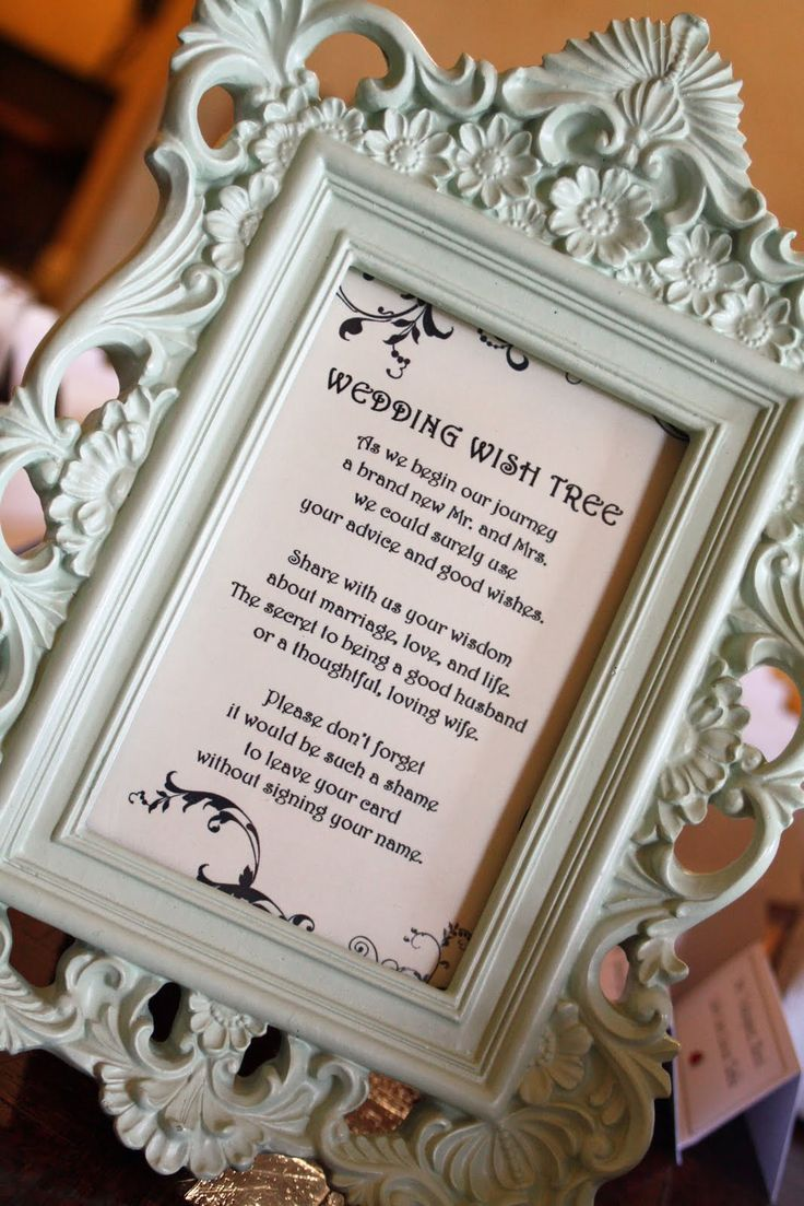 Wedding Gift Poem For Dollars : Wedding wishing trees on Pinterest Wishing trees, Money tree wedding ...