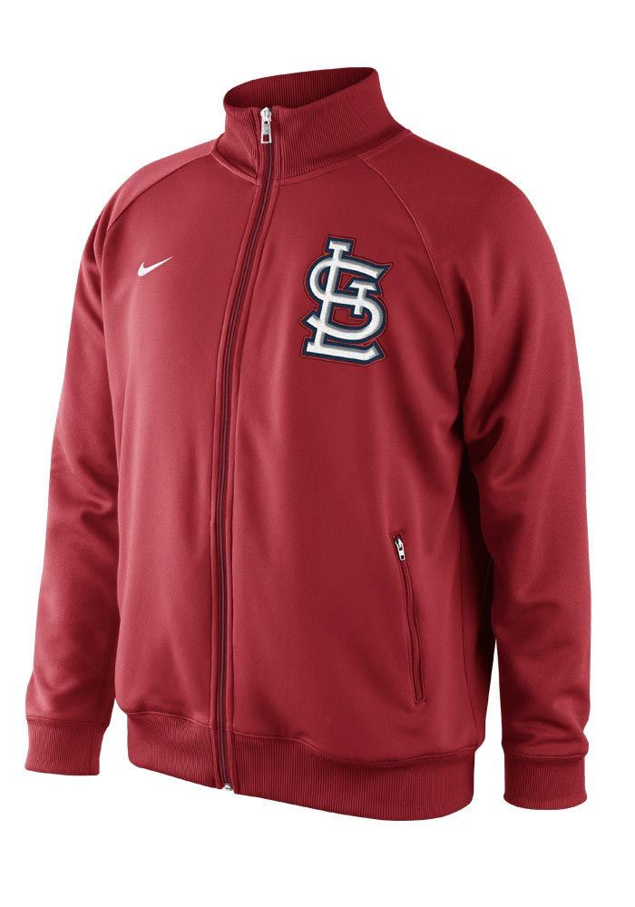 St. Louis Cardinals Nike Mens Red Track Jacket http://www.rallyhouse.com/shop/st-louis-cardinals-nike-st-louis-cardinals-nike-mens-red-track-jacket-12517099?utm_source=pinterest&utm_medium=social&utm_campaign=Pinterest-STLCardinals $65.00
