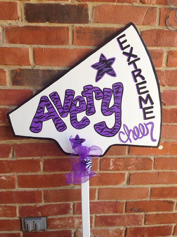 Custom made hand painted cheer team yard sign on Etsy, $45.00