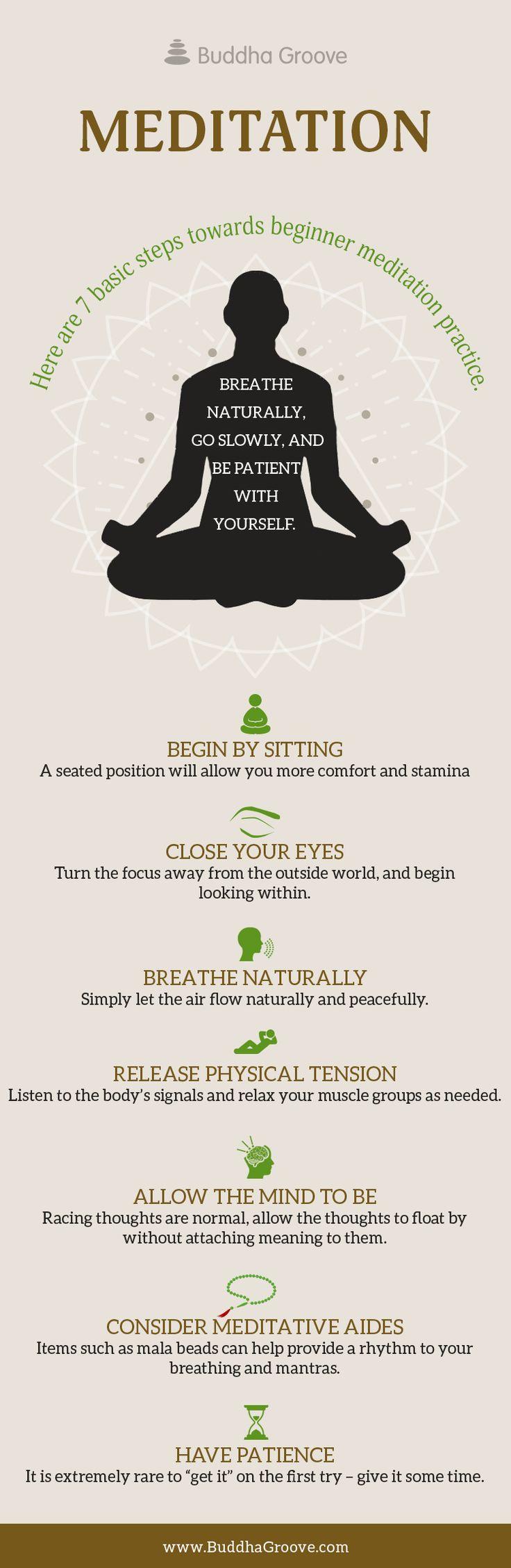 Here are 7 basics steps towards beginner meditation practice.                                                                                                                                                                                 More