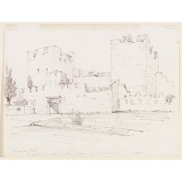 Cannon Gate Constantinople (Drawing) sir George Scharf 1844