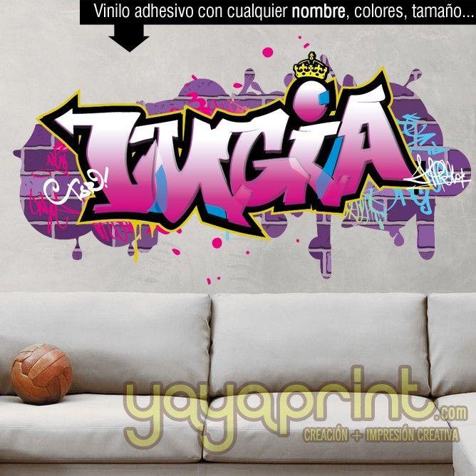 M s de 25 ideas incre bles sobre graffitis nombres en for Mural habitacion juvenil