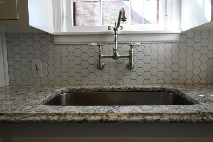 Wallmount faucet undermount stainless sink honeycomb