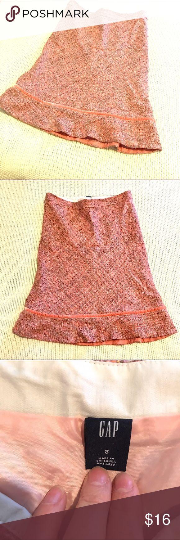 Pink Gap Skirt Pink Gap Skirt. Size 8, runs a little small. Knee length or a little longer. Shell: 38% wool, 62% acrylic. Lining 100% polyester. GAP Skirts