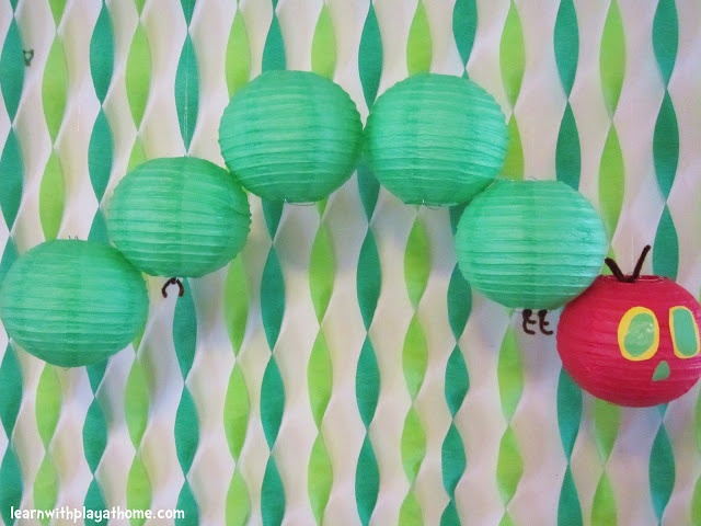 {Number 3} Love the paper lanterns idea! Very Hungry Caterpillar Party #WorldEricCarle #HungryCaterpillar
