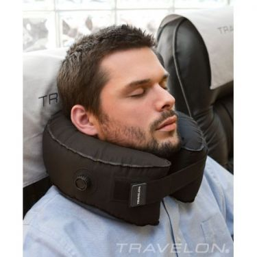 If you are on a long flight your options for achieving good sleep and avoiding painful neck cramps are very limited. Not anymore with this Self Inflating Neck Pillow $29.95 http://www.corporatetravelsafety.com/catalog/self-inflating-komfort-kollar-travel-pillow.html