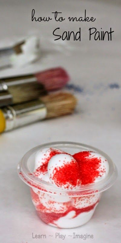 how to make sand paint
