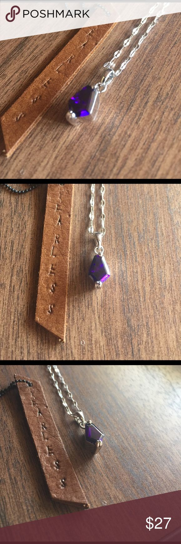 Sterling silver purple pendant chain 😍Solid Sterling silver, shop with confidence 🎊🎉 our jewelry is stamped 925 for the quality assurance 😍 #Sterlingsilver #Jewelry #Imperfectdivine 16 inch chain Jewelry Necklaces