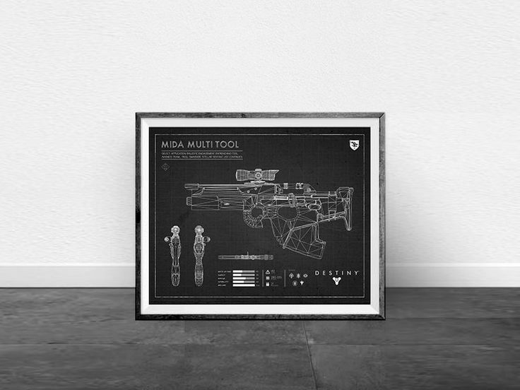 The 34 best destiny blueprints black images on pinterest destiny black mida multitool blueprint destiny exotic weapon blueprint destiny print exotic weapon wall malvernweather Image collections