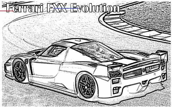 Ferrarifxx In 2020 Ferrari Fxx Ferrari Cars Coloring Pages