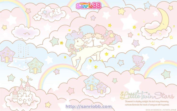 Little Twin Stars Wallpaper 2013 六月桌布 日本 SanrioBB Present